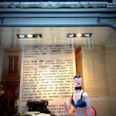 Window of Chantal Thomass, rue du Faubourg St Honoré. Nothing rude, here. Name it sassy, or cheeky ?..Does not reflect the way every single French blogger needs to be dressed to feel inspired!